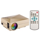 GM60 Mini Portable Digital TFT LCD HD Home Theater Projector w/ HDMI / USB / SD - Golden