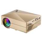 GM60 Mini Digital LCD HD Home Theater Projector w/ HDMI, SD - Golden