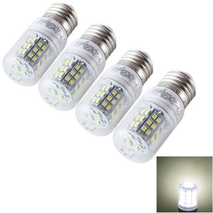 YouOKLight E27 6W LED Corn Bulb Cold White Light 6000K 48-SMD (4PCS)