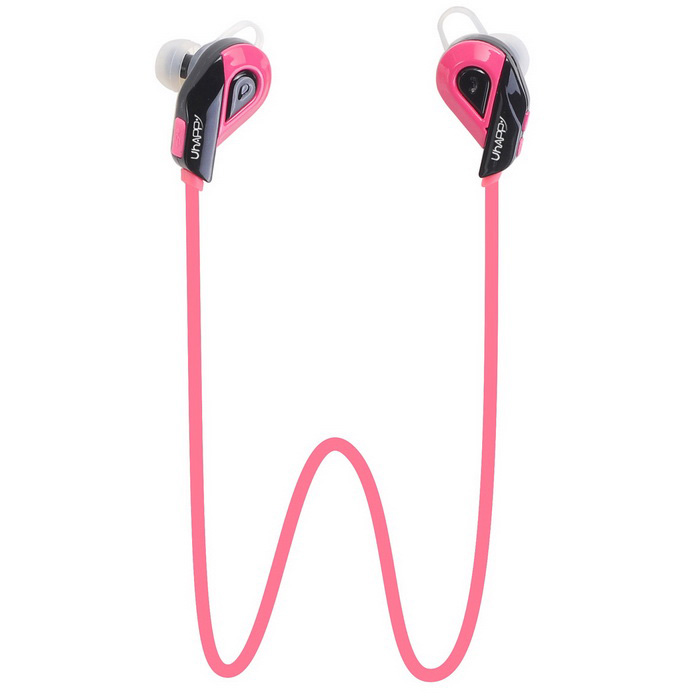 UHAPPY S02 Bluetooth V4.1 In-Ear Music Sports fone de ouvido com microfone - Pink