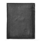 JIN BAO LAI Herrenmode Bi-Fold Leather Cards Inhaber Brieftasche - Schwarz