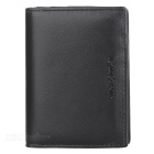 JINBAOLAI Men's Fashionable PU Cards Holder Cash Clip Wallet - Black