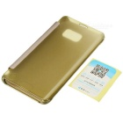 Protective Clear PU Case for Samsung Galaxy S6 Edge Plus - Golden