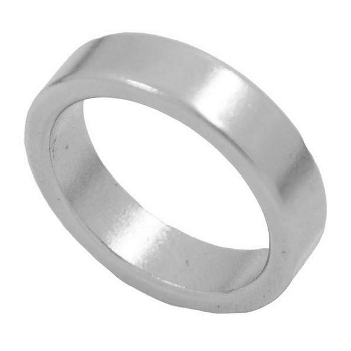 Magic Trick Prop Magnetic NdFeB Finger Ring - Silver