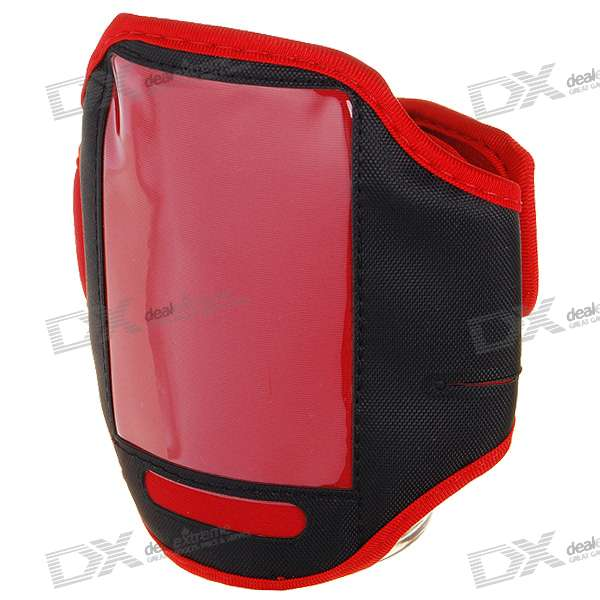 Trendy Sports Armband for Iphone 4 (Red + Black)