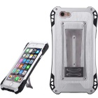Sport Waterproof Shockproof Aluminum Alloy Back Case for IPHONE 6 PLUS / 6S PLUS - Silver + Black