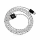 USB 3.1 Type-C M to USB 2.0 M Data Charging Cable - White+Black (97cm)