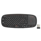 RII Mini USB 2.0 2.4GHz 69-Key Wireless Keyboard w/ Touchpad - Black (Russian)