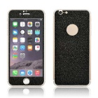 Angibabe 0.3mm Glitter Shiny Protective 9H Glass Front + Back Protectors for IPHONE 6 / 6S - Black