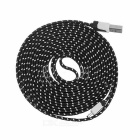 Micro USB to USB 2.0 Nylon Braided Cable - Black + White (3m)