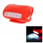 CTSmart Superbright Waterproof 3-Mode Red + White Light Bike Light - Red (3 x AAA)