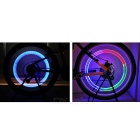 Wheel Valve Light Multi-color Strobe for Car / Bike - Silver (2PCS)
