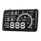 "Upgraded 5.5"" HUD Head-Up Display w/ OBD Cable - Black + White"