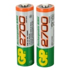 GP 1.2V 2700mAh Ni-MH Rechargeable AA Batteries (2-Pack)