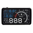 "Upgraded 5.5"" HUD Head-Up Display Windshield Projector w/ OBD Cable - Black + Blue"