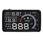 "Upgraded 5.5"" HUD Head-Up Display Windshield Projector w/ OBD Cable - Black + White"