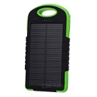 A50 8000mAh Dual USB Solar Power Li-polymer Battery Bank + 12-LED Lighting Lamp - Black + Green