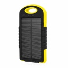 A50 8000mAh Dual USB Solar Power Li-polymer Battery Bank + 12-LED Lighting Lamp - Black + Yellow