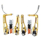 AEST YVB76A-01 Replacement CNC Aviation Aluminum V Brake Set for MTB Mountain Bike - Golden