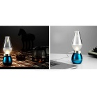 LED Blowing Control Dimmable Kerosene Lamp Style Night Light - Blue