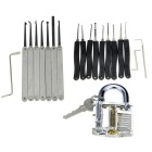 Single Hook + One-slot Training Lock + Lock Pick Tool Set