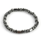 Anti-radiation Lodestone Healthy Bracelet - Silvery Black