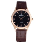 BESTDON BD98107G Fashion Waterproof Quartz Watch - Black + Brown