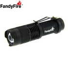 FandyFire SK68 Q5 1-LED 250lm 3-Mode Convex Lens LED Zooming Flashlight - Black  (1 x 14500 / AA)