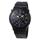 MEGIR Men's Waterproof Silicone Wristband Sport Watch - Black