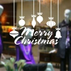 Chrismas Beautiful Removable Home Decoration PVC Window Glass Wall Sticker Decal - White