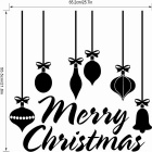Chrismas Beautiful Removable Home Decoration PVC Window Glass Wall Sticker Decal - Black