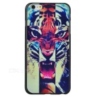 Tiger Pattern Protective Plastic Back Case Cover for IPHONE 6 PLUS / 6S PLUS - Black + Yellow
