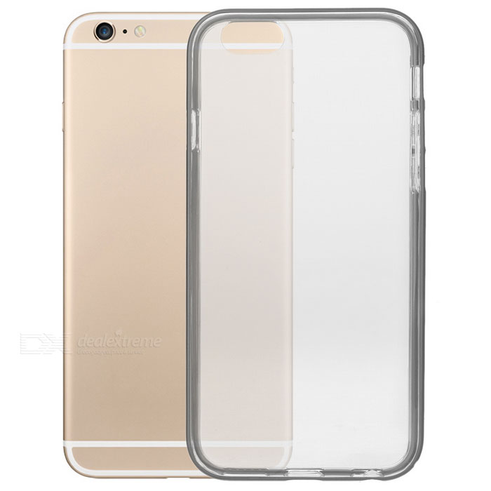 S-What TPU + Aluminum Alloy Back Case for IPHONE 6 / 6S - GreyTPU Cases<br>Form  ColorGrey + TransparentQuantity1 DX.PCM.Model.AttributeModel.UnitMaterialOthers,Aluminum alloy + TPUCompatible ModelsIPHONE 6S,IPHONE 6DesignTransparentStyleBack CasesPacking List1 x Case<br>