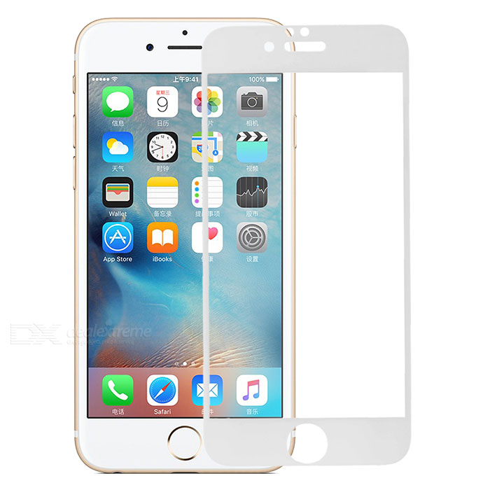 Tempered Glass Screen Protector for IPHONE 6/6S - Transparent + White