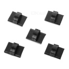 Car Adhesive Wire Cord Line Cable Clip Clamp Holder Organizer - Black (5pcs)