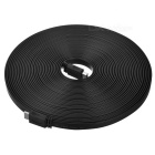 Universal Flat HDMI Cable for Laptops / Desktops - Black (15m)