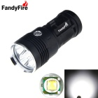 FandyFire 4000lm 4-LED XM-L T6 LED Flashlight Torch Charger Lamp - Black (4 x 18650)