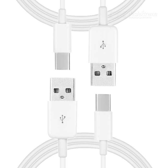 USB 2.0 to USB 3.1 Type-C Charging / Data Cable - White (3m / 2PCS)