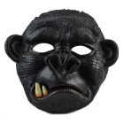 Máscara de borracha do chimpanzé do gangtooth para o partido cosplay do traje - preto