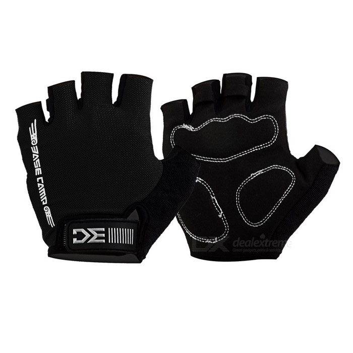 Basecamp BC-204 Anti-Shock Breathable Half-Finger Gloves - Black (M)