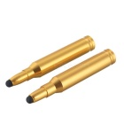 Metal Bullet Shape Capacitive Screen Touch Pen Stylus for IPHONE / Samsung & More - Golden (2pcs)