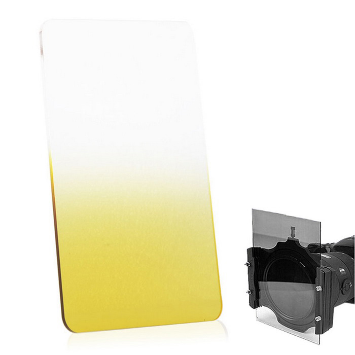 EOSCN 100*150mm Neutral Density Gradient Resin Filter - Yellow