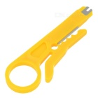 ABS Portable Network Cable Stripper Cutter - Yellow + Silver (5PCS)