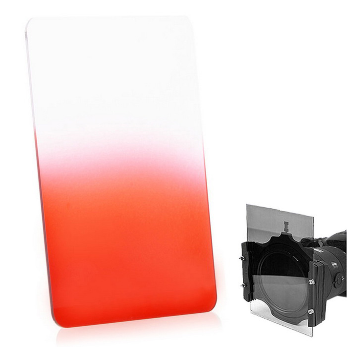 EOSCN 100*150mm Neutral Density Gradient Resin Filter - Red