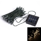Solar Powered 3W 50 LED-Indoor Outdoor-Hochzeits-Weihnachtsfest-String Light Warm White 3200K (10m)