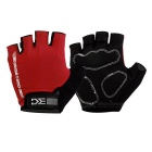Basecamp BC-204 Outdoor Cycling Anti-Shock Breathable Half-Finger Gloves - Black + Red (M / Pair)