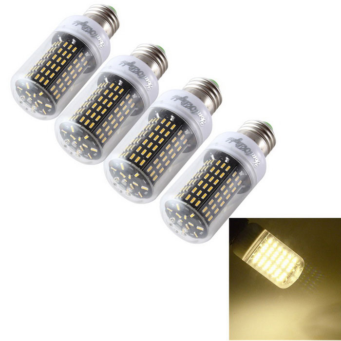 YouOKLight E27 15W LED Corn Bulb Lamps Warm White 3000K 138-SMD (4PCS)