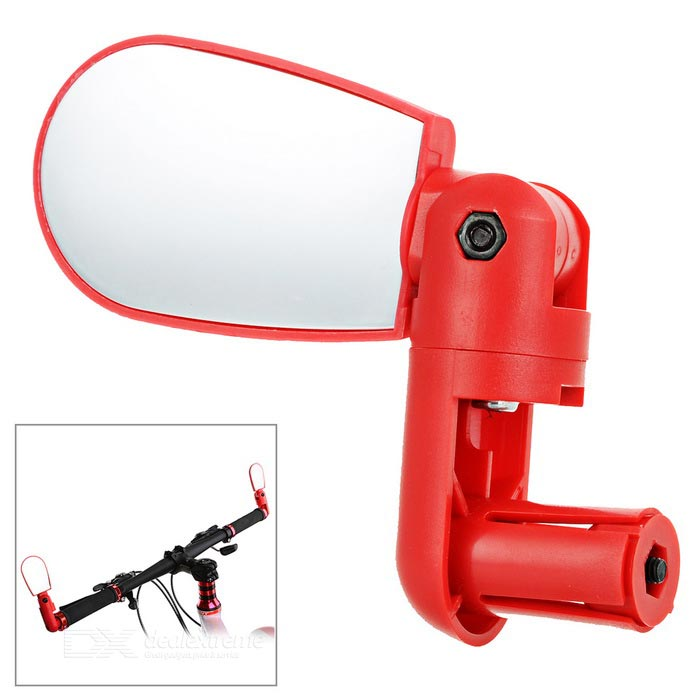 Flexible Adjustable Bike Bicycle Handlebar End Rearview Mirror - Red