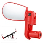 Mini Flexible Adjustable Bike Bicycle Handlebar End Rearview Mirror - Red