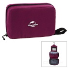 NatureHike Outdoor Travelling Camping Zippered Makeup Wash Storage Bag - Purplish Red
